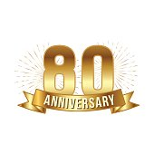 Anniversary golden eighty years number