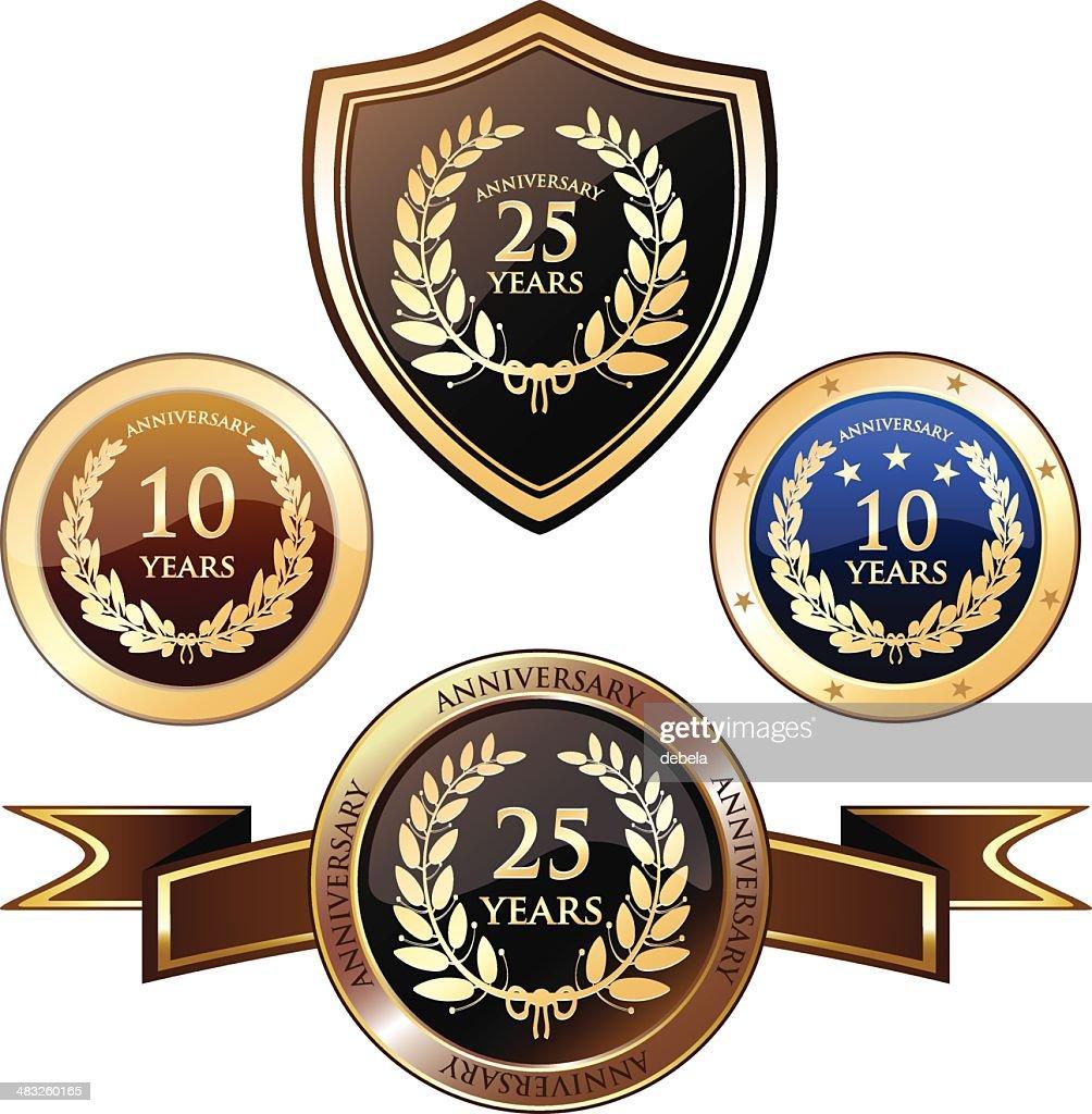 Anniversary Heraldry Badges