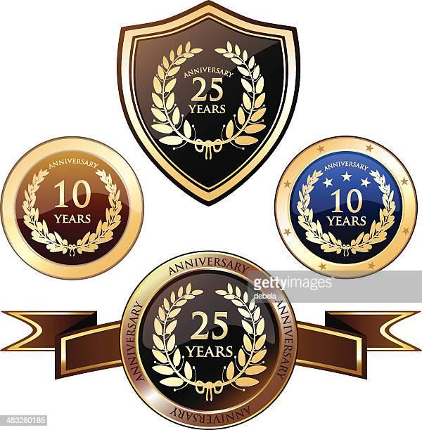 Heraldry emblemas de Aniversário