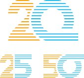 20 25 50 anniversary line number vector