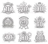 Anniversary line numbers set