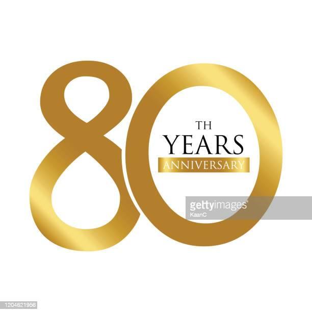 記念日ロゴテンプレート分離、記念日アイコンラベル、記念日のシンボルのストックイラスト - 数字の80点のイラスト素材/クリップアート素材/マンガ素材/アイコン素材