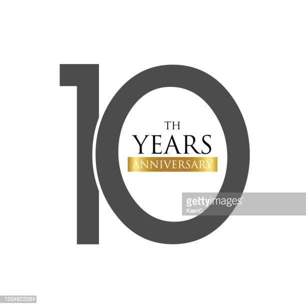記念日ロゴテンプレート分離、記念日アイコンラベル、記念日のシンボルのストックイラスト - 数字の10点のイラスト素材/クリップアート素材/マンガ素材/アイコン素材