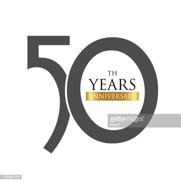 stockillustraties, clipart, cartoons en iconen met de grafiek van het embleem van de verjaardag geïsoleerd, etiket van het verjaardagspictogram, de illustratie van de verjaardagssymboolvoorraad - 50 jarig jubileum