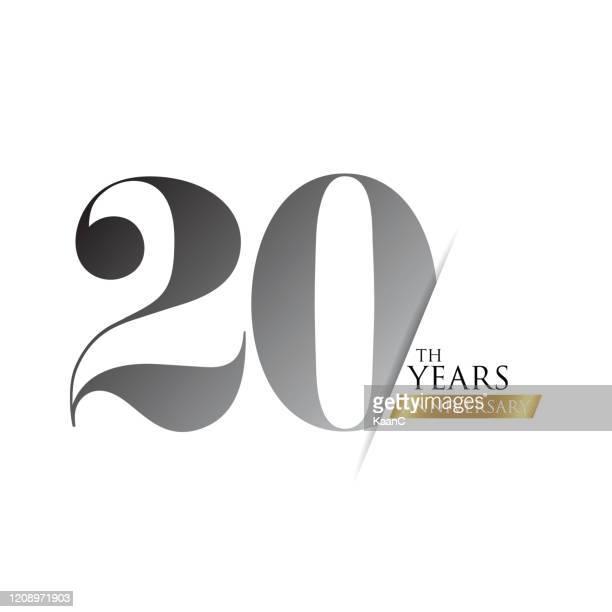 anniversary logo template isolated, anniversary icon label, anniversary symbol stock illustration - 100th anniversary stock illustrations