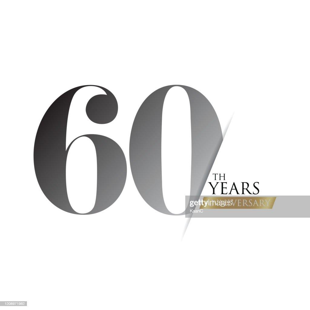 記念日ロゴテンプレート分離、記念日アイコンラベル、記念日のシンボルのストックイラスト : ストックイラストレーション
