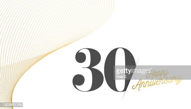 anniversary logo template isolated, anniversary icon label, anniversary symbol stock illustration. happy anniversary greeting template with gold colored hand lettering. - 60th anniversary stock illustrations