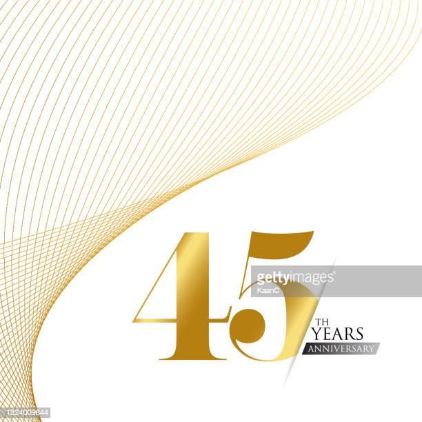 ●記念品ロゴテンプレートは分離、記念日アイコンラベル、記念銘柄ストックイラスト。金色の手のレタリングと記念日の挨拶テンプレート。 - 結婚記念日のカード点のイラスト素材/クリップアート素材/マンガ素材/アイコン素材