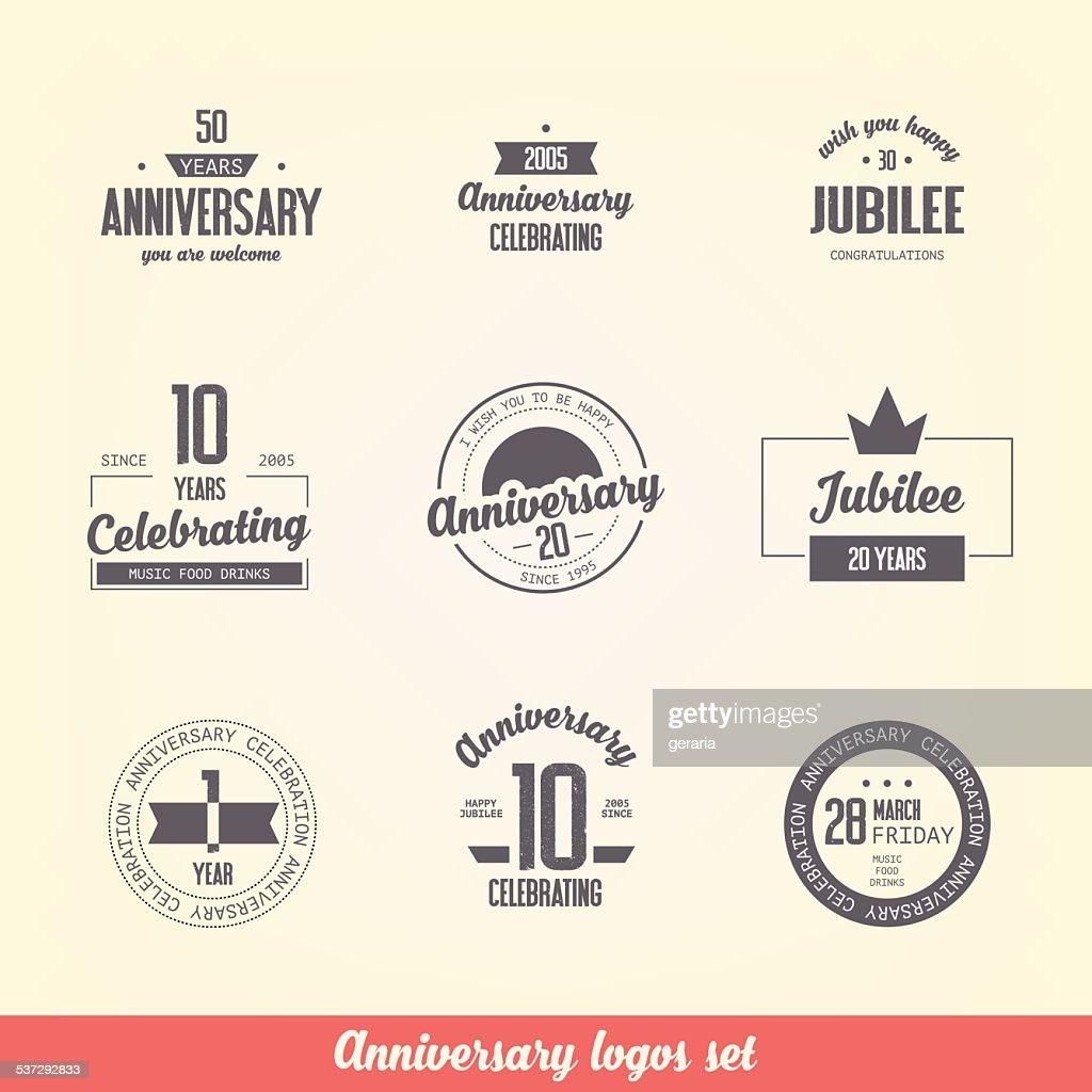 Anniversary logos set.