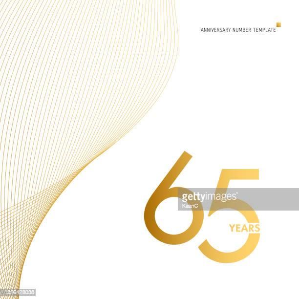 ●記念日銘柄テンプレートは分離され、金色の番号、記念銘柄ストックイラスト。波の形を持つ番号テンプレート。 - 結婚記念日のカード点のイラスト素材/クリップアート素材/マンガ素材/アイコン素材