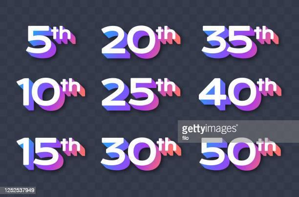 記念日の年 - 数字の30点のイラスト素材/クリップアート素材/マンガ素材/アイコン素材