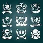Anniversary numbers design