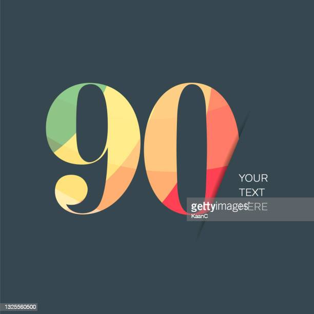anniversary or step number symbol template isolated, colorful number, anniversary symbol stock illustration. number template with colorful lettering. - 60th anniversary stock illustrations