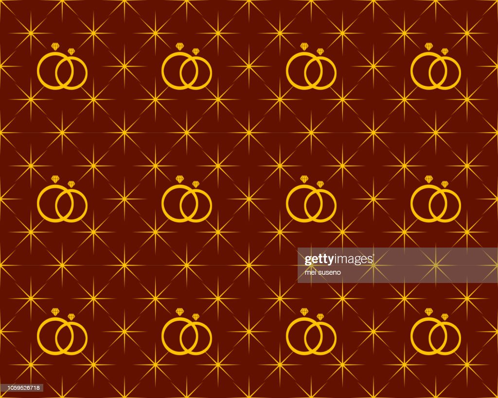 anniversary pattern background shaped stars and diamond ring