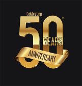Anniversary retro vintage badge vector illustration