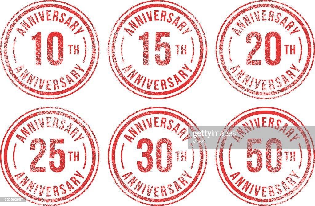 Anniversary rubber stamps
