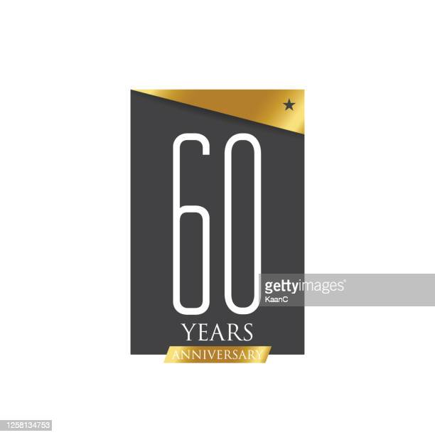 ●記念銘柄テンプレート分離、記念日アイコンラベル、記念銘柄ストックイラスト - 数字の60点のイラスト素材/クリップアート素材/マンガ素材/アイコン素材