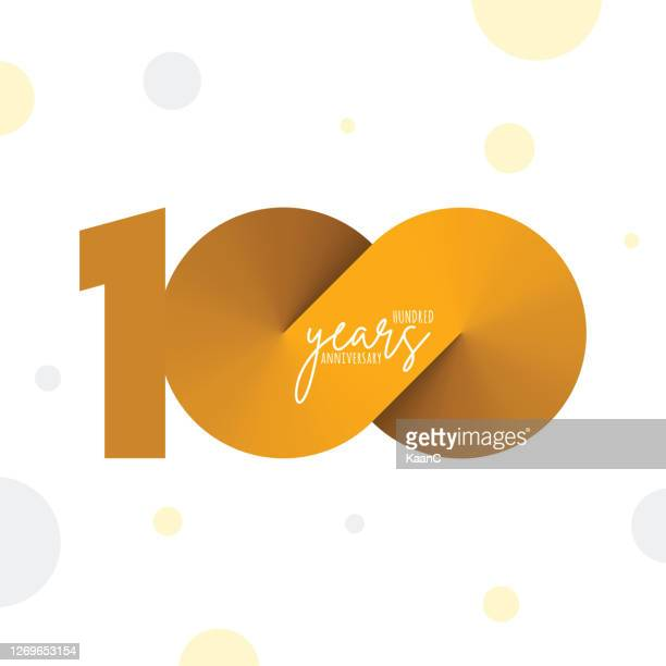 anniversary symbol template isolated, anniversary icon label, anniversary symbol stock illustration - 100th anniversary stock illustrations