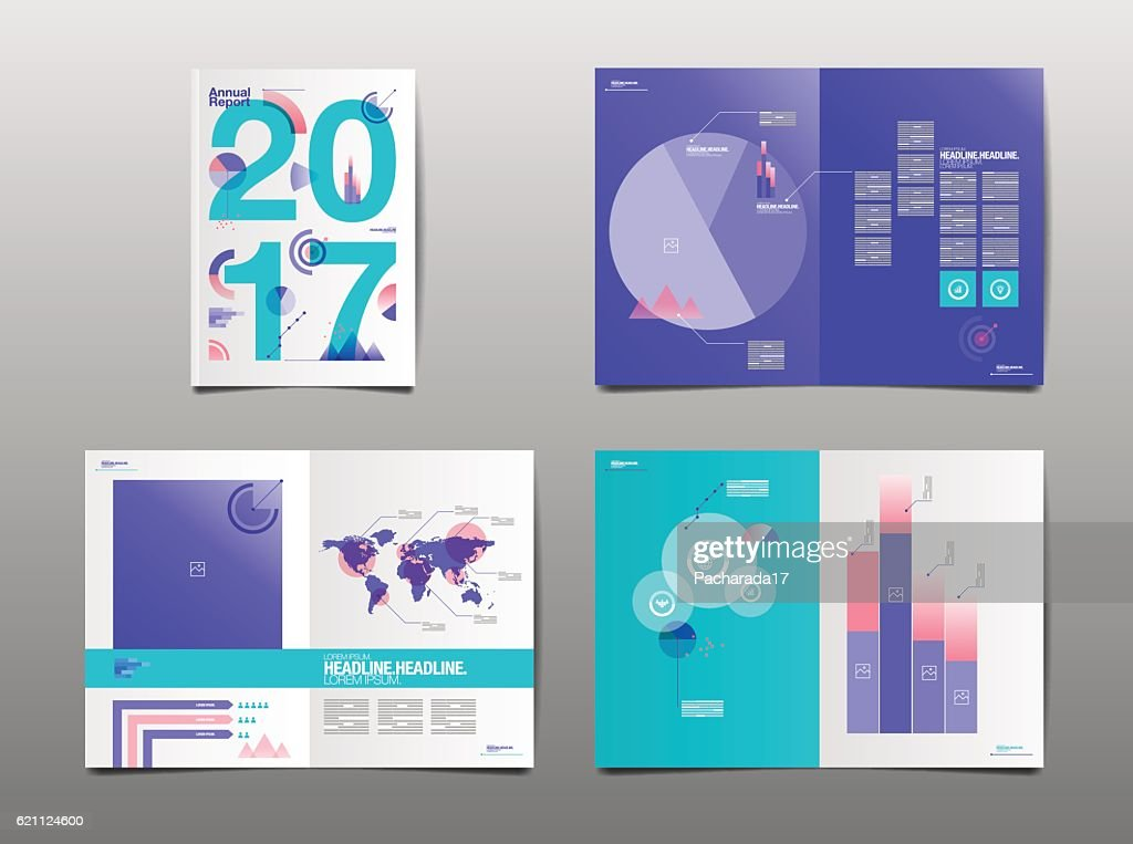 annual report 2017, template layout design