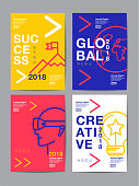 annual report 2018 ,future, business, template layout design, cover book. vector colorful, infographic, abstract flat background.