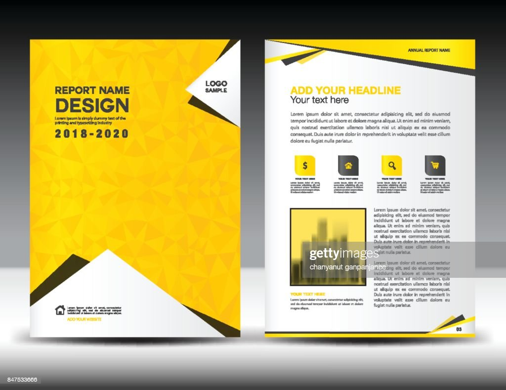 Annual Report Cover Business Brochure Flyer Template Blue Cover ...