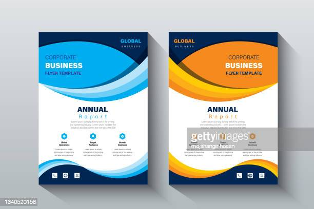 corporate business flyer background catalog cover