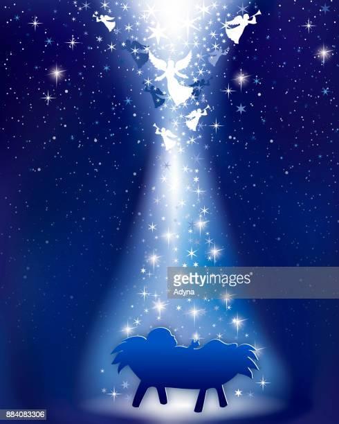 annunciation - star of bethlehem religious symbol stock illustrations, clip art, cartoons, & icons