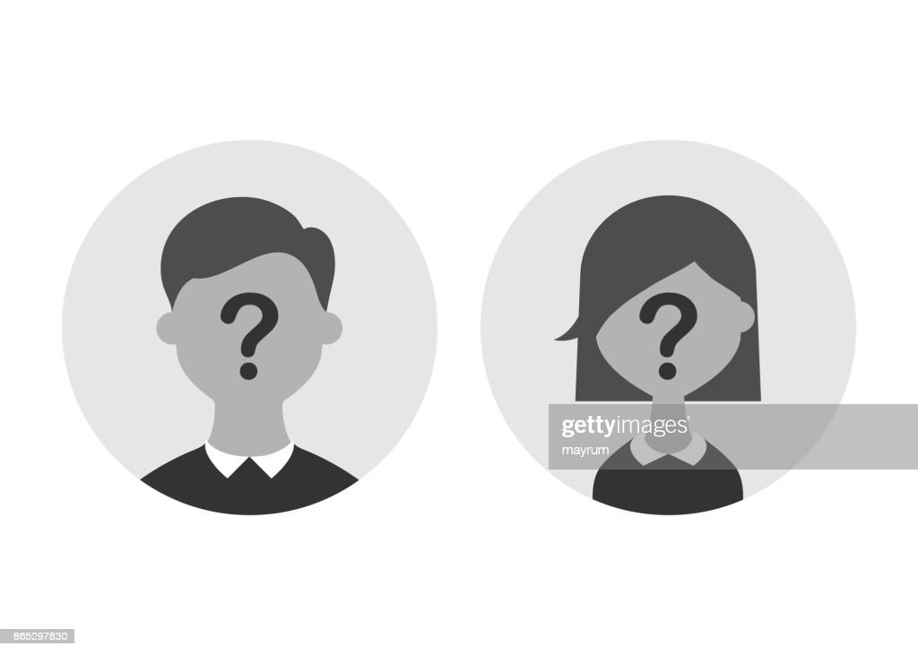 Anonymous male and female silhouette