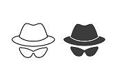 Anonymous vector icon.