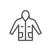 Anorak line icon