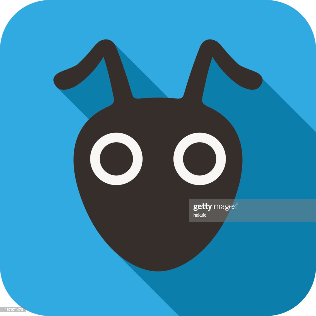 Ant face flat design
