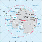 antarctic vector map