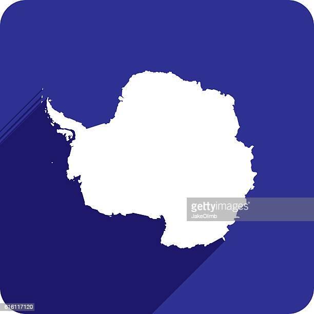 antarctica icon silhouette - antarctica stock illustrations, clip art, cartoons, & icons