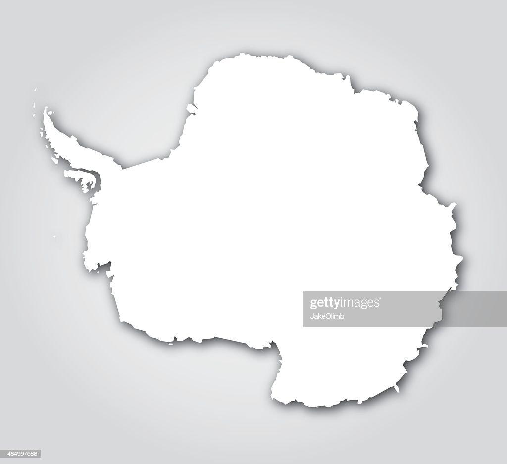 Antarctica Silhouette White