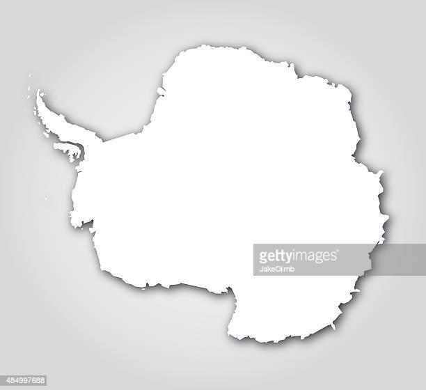 antarctica silhouette white - antarctica stock illustrations