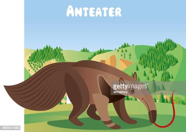 anteater - guatemala stock illustrations, clip art, cartoons, & icons
