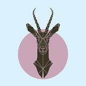 Antelope in polygonal style.