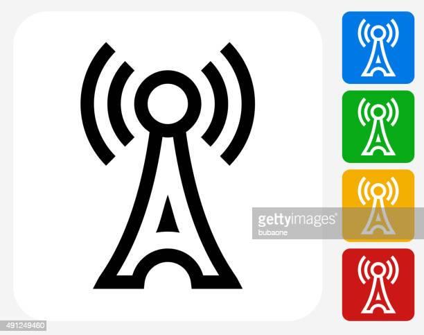 Antenna Icon Flat Graphic Design