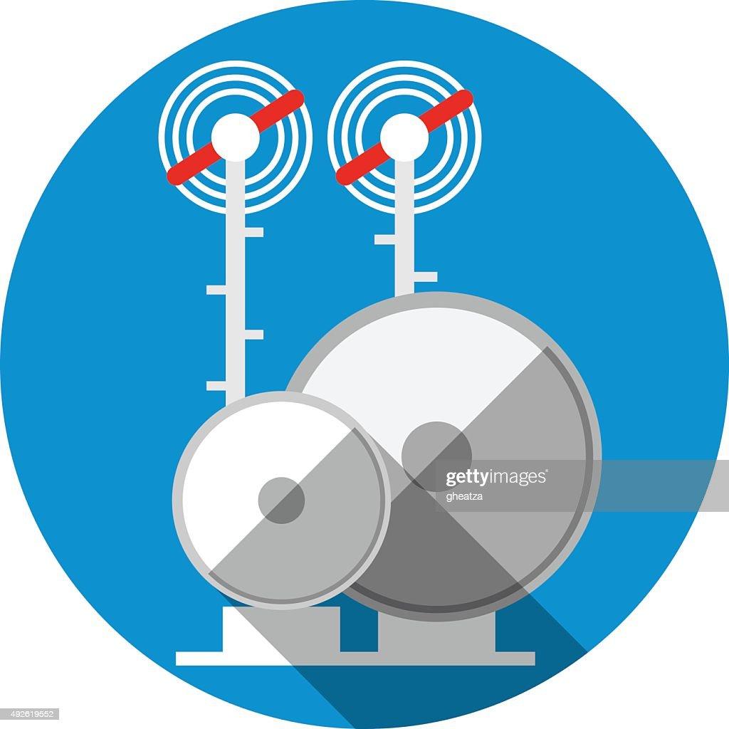 Antenna Tower. Flat Icon