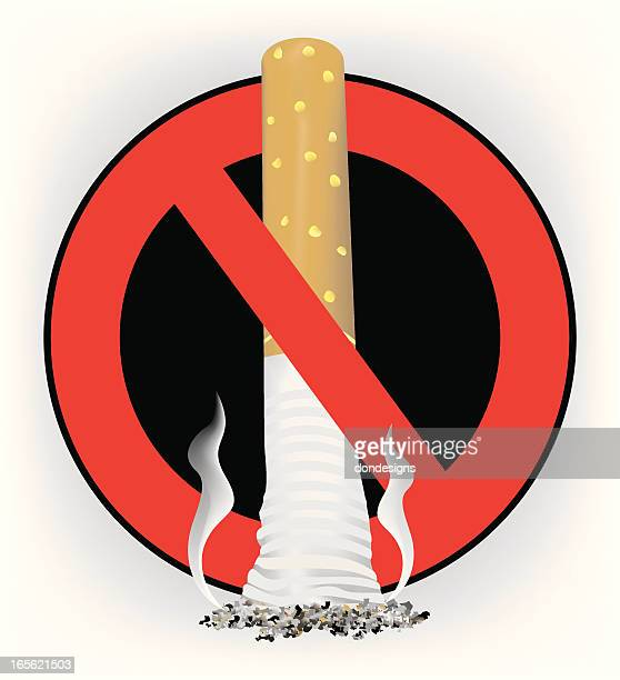 anti smoking icon - quitting smoking stock illustrations, clip art, cartoons, & icons