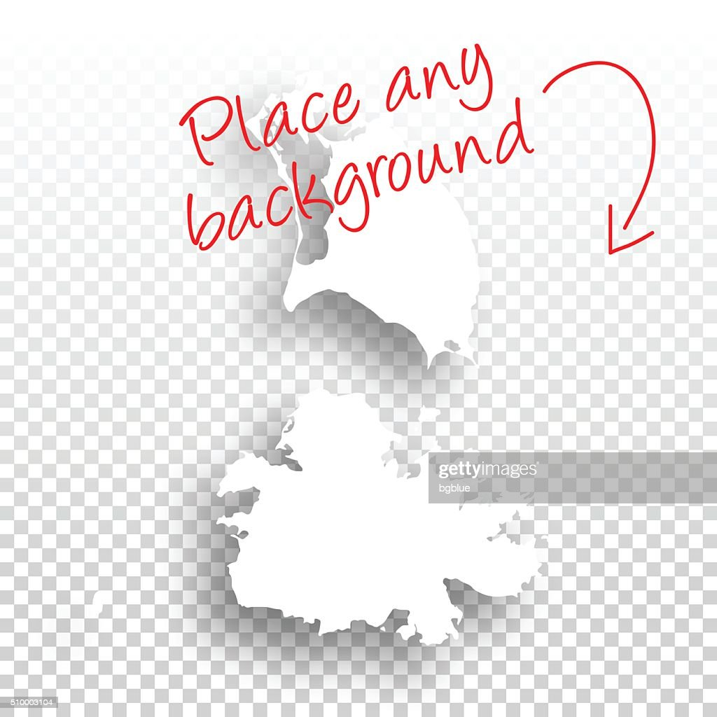 Antigua And Barbuda Map For Design Blank Background Vector Art
