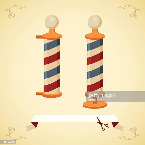 antique barber pole - barber pole stock illustrations