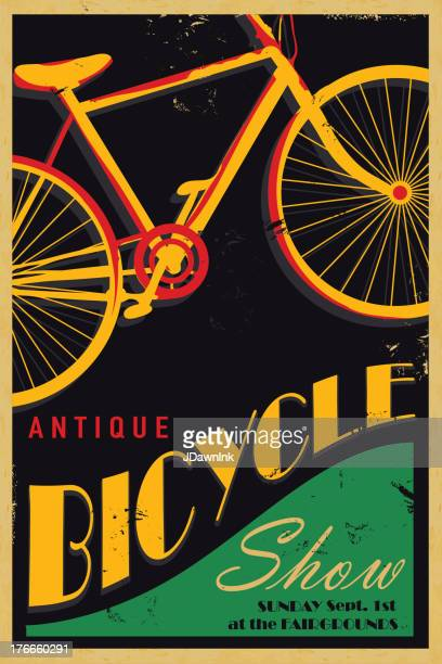 Ancien vélo poster design template