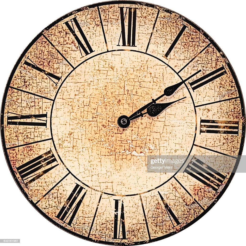 antique clock face vector art getty images