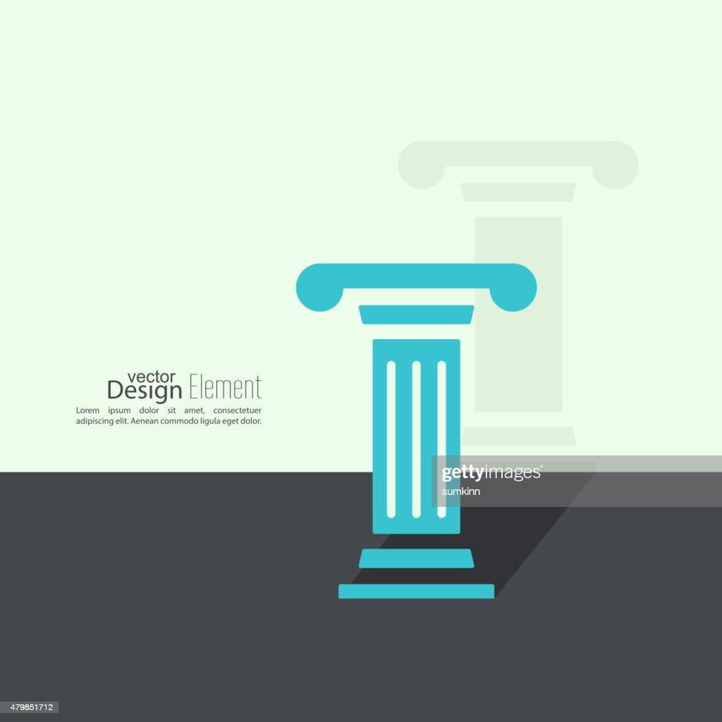 Antique column. Pedestal