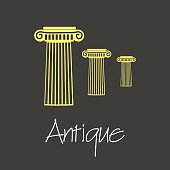 antique column symbols simple business banner eps10