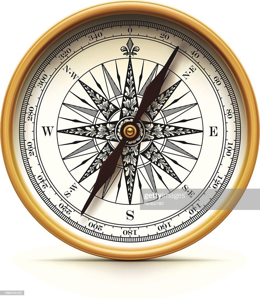 Antique Compass : stock illustration