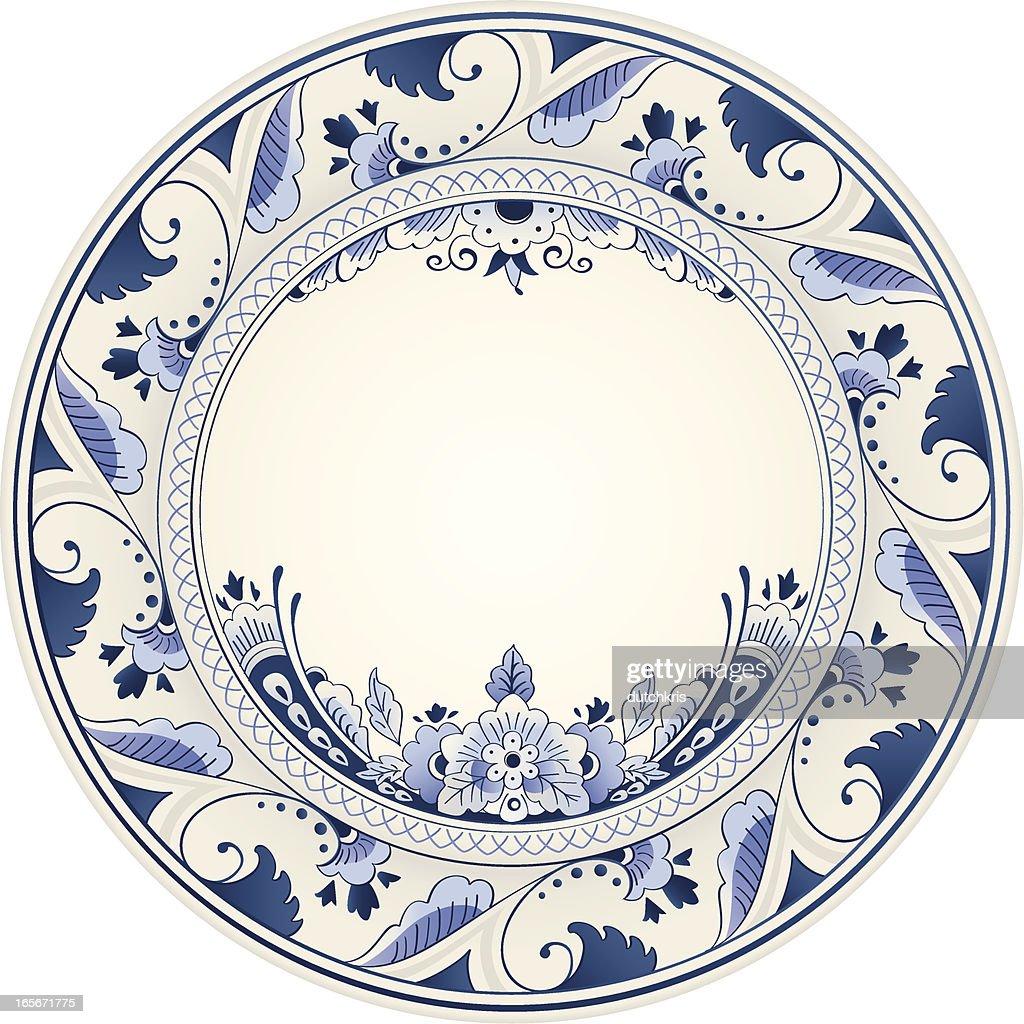 Antique Delft Blue Plate