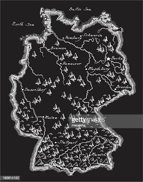 Antike Karte von Deutschland