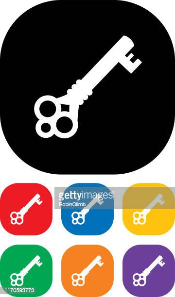 antique key icon set - safety american football player stock illustrations, clip art, cartoons, & icons